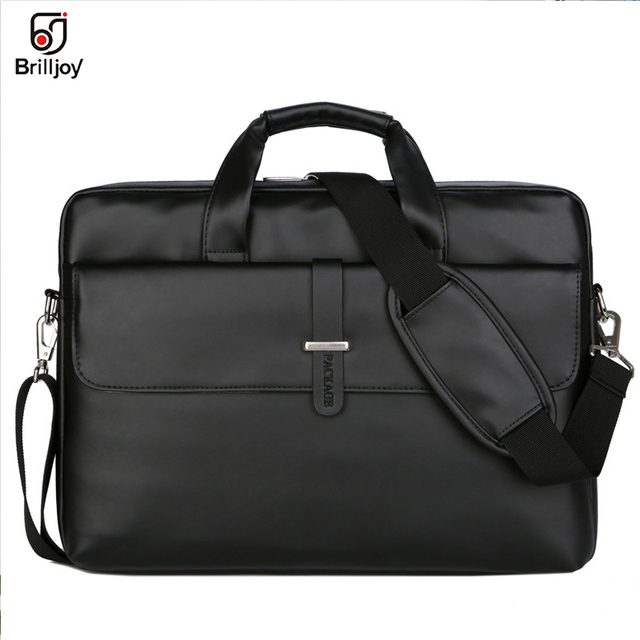 Brilljoy PU Leather women Handbags Laptop Bag Notebook Carrying Case men Briefcase for Macbook Air 13 14 15.6 inch shoulder Bag