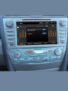 "Image 2 - 8 ""2 DIN Android รถวิทยุสเตอริโอ GPS หน่วย CASSETTE สำหรับ Toyota Camry 2011 2007 มัลติมีเดียไม่มีดีวีดีพวงมาลัย OBD2"