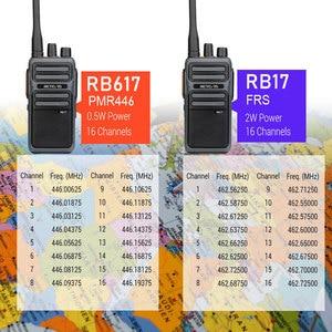 Image 5 - RETEVIS RB17/RB617 Walkie Talkie 2pcs  Portable Two  Way Radio UHF Radio Station PMR446 FRS Walkie talkie VOX  Type C Charging