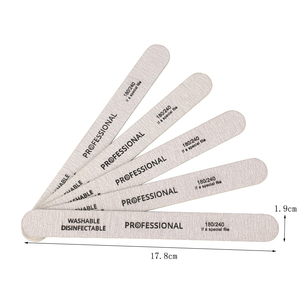 Image 5 - 100 Uds. De limas de madera para uñas, limas de tapón de limado para manicura profesional, 180/240 de doble cara para salón de manicura y pedicura
