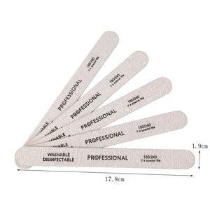 100 шт. деревянный пилочка для ногтей, профессиональный шлифовальный буфер для ногтей, пилки 180/240 двухсторонние для салонного маникюра и педи...