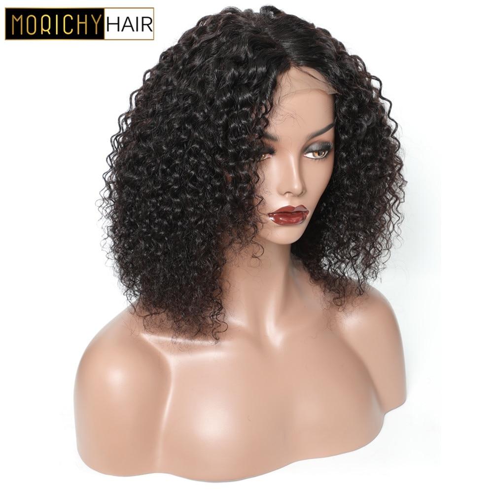 Morichy Brazilian Bob Curly 4x4 Lace Closure Wigs Non-Remy Guleless Human Hair Wigs 150% Density Free Shipping