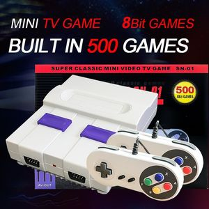 Mini Video Game Console Machine SNES Built In 500games Handled Video Game Console 8-bit AV Output Game Console