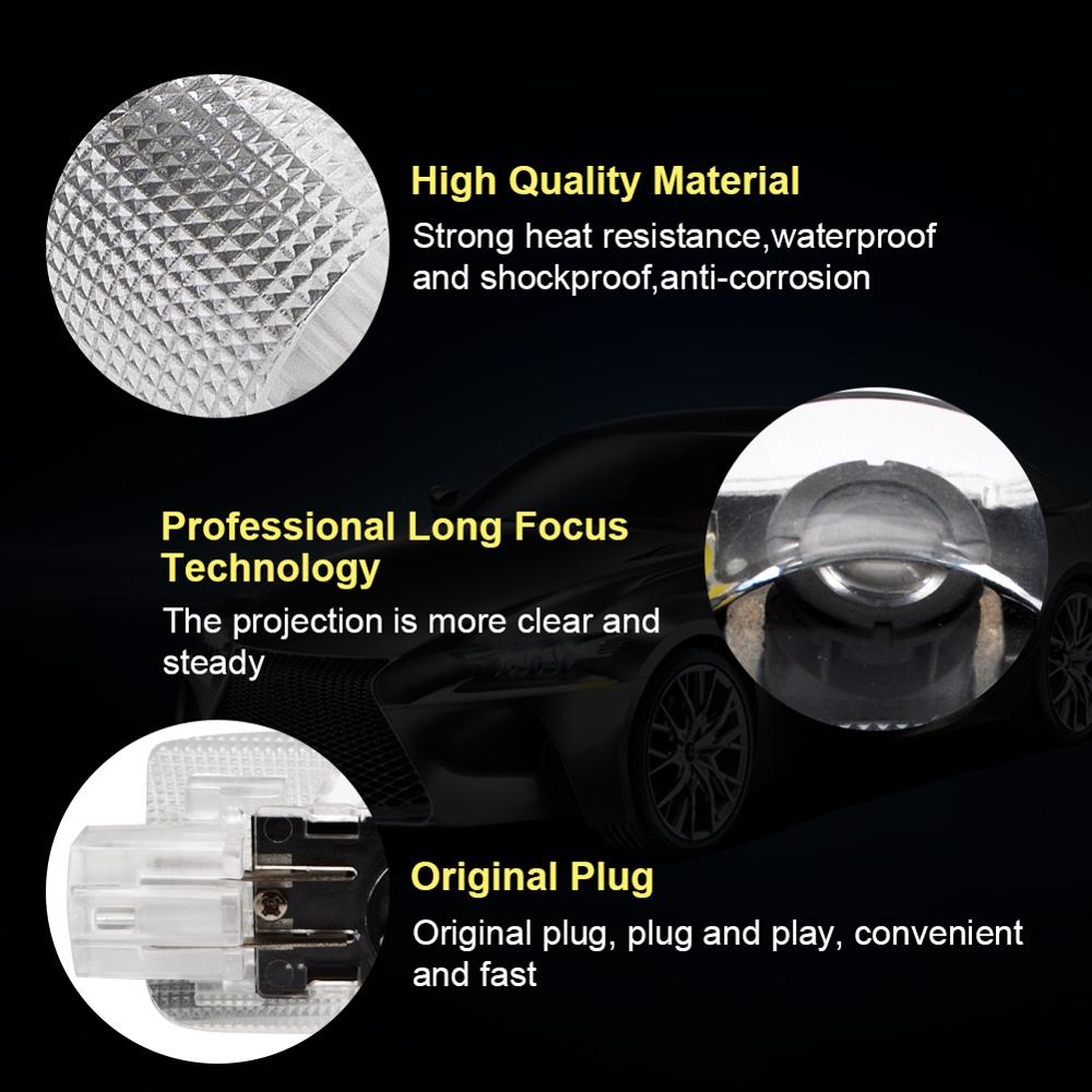 Safego 2 pcs LED Door Projector Lights For LEXUS ES GX LS LX RX Car Door Lighting Logo Ghost Shadow Step Courtesy Welcome Lights in Signal Lamp from Automobiles Motorcycles