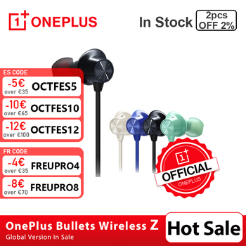 In Stock Original OnePlus Bullets Wireless Z Earphones Magnetic Control Quick Switch Pair Warp Fast Charge VS Bullets Wireless 2