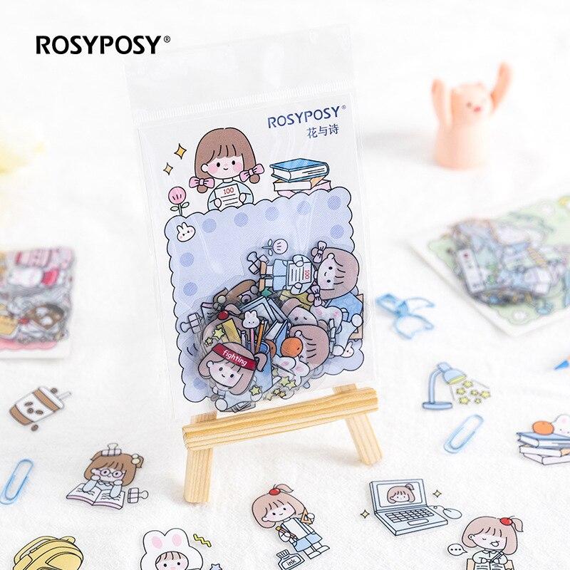 40pcs/pack Cute Funny Animals Theme Washi Planner Sticker Decorative Adhesive Sticker Craft Scrapboo