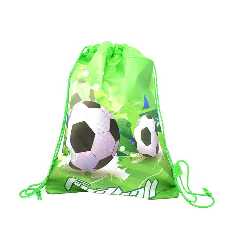 1pc 만화 Drawstring 가방 산타 클로스, 마리오 학교 배낭 소년, 소녀 유니콘 Satchel 번들 배낭