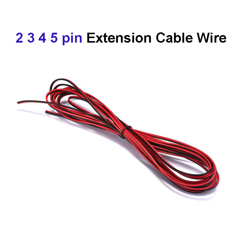 2pin/<font><b>3pin</b></font>/4pin/5pin cable <font><b>22AWG</b></font> Electrical cable LED Connector Extension Copper Wire For WS2812B RGB LED Strip Light Fixtures image