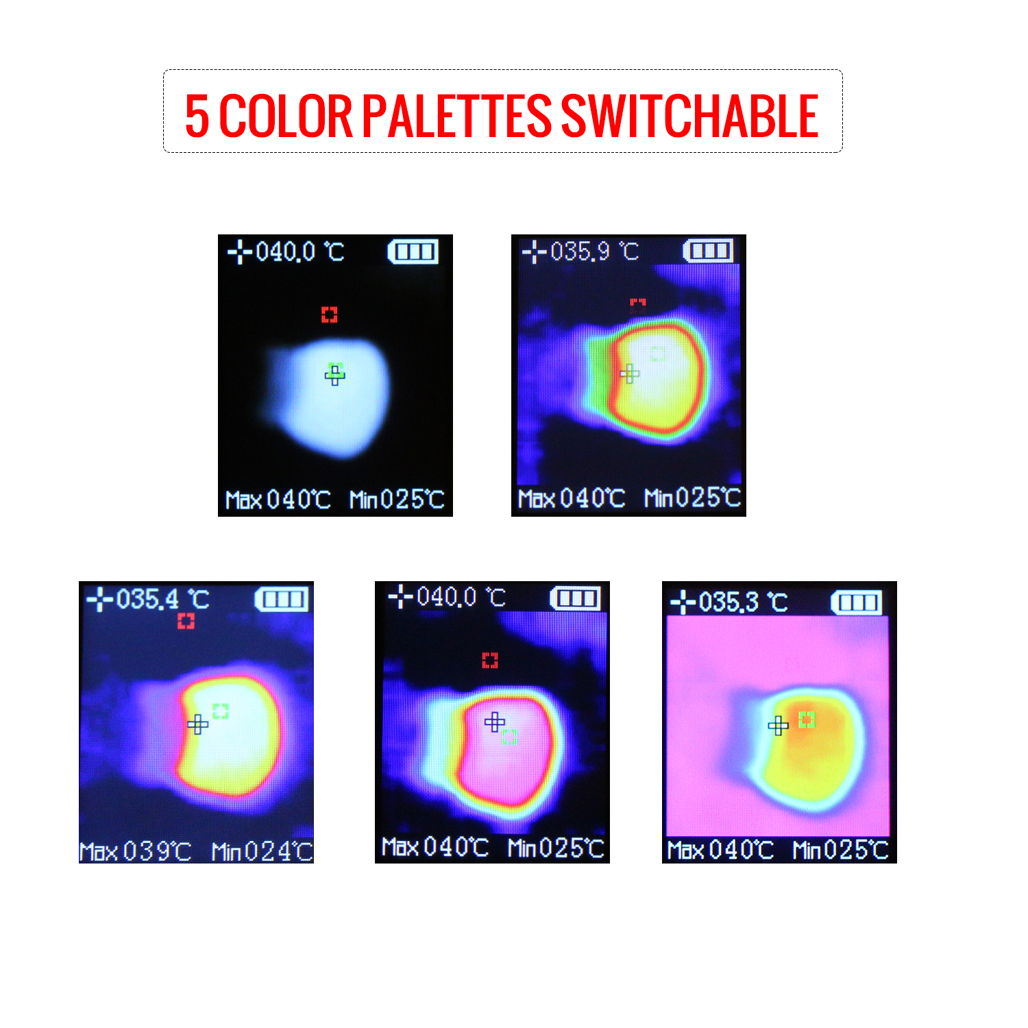 Mini Handheld Thermal Camera TFT Imaging Devices With LCD Display For Imaging Camera 4