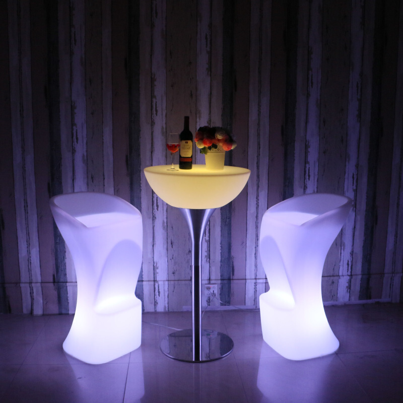 Led Luminous Table And Chairs High Table Table Bar Counter Table Bar Colorful Outdoor Activities Combination Furniture Ktv Coffe