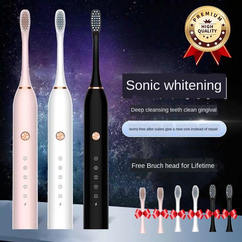 Ultra sonic elektrikli diş fırçası akıllı Sonic diş fırçası otomatik diş fırçaları USB hızlı şarj edilebilir yetişkin su geçirmez