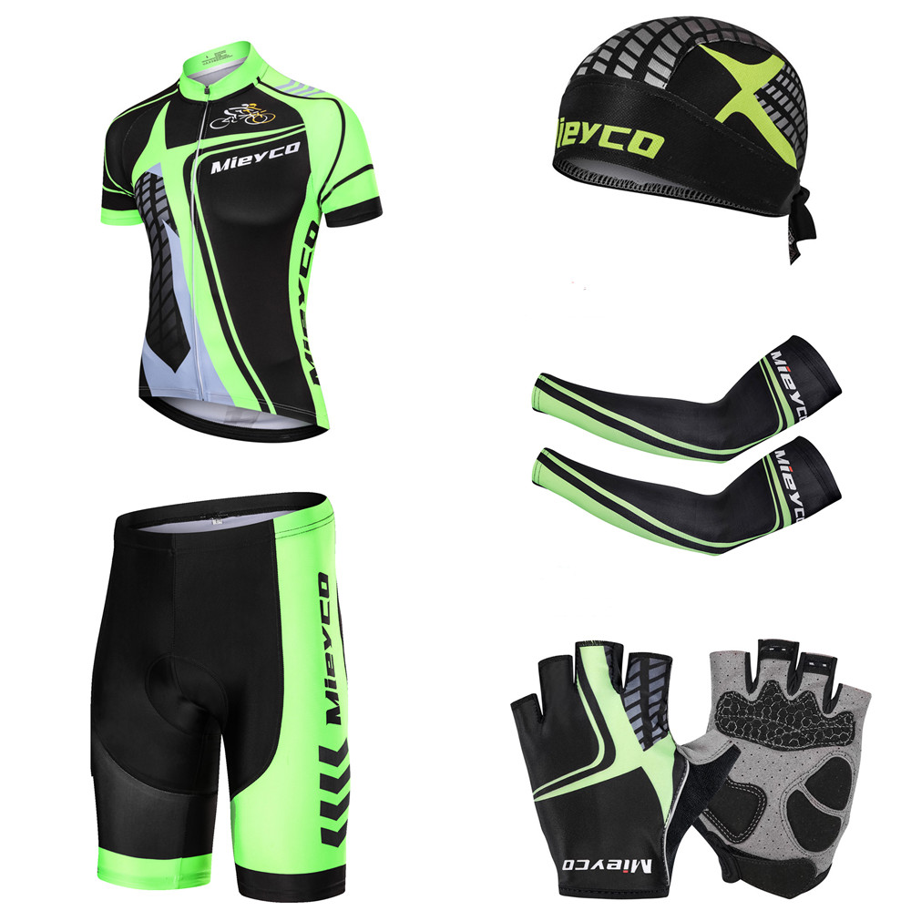 2019 Summer men cycling short sleeve sets quick dry outdoor sports jersey S3120