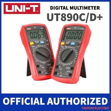UNI-T ut890c ut890d + multímetro digital 6000 contagens corrente ac dc v resistência capacitância tester verdadeiro rms display lcd ncv