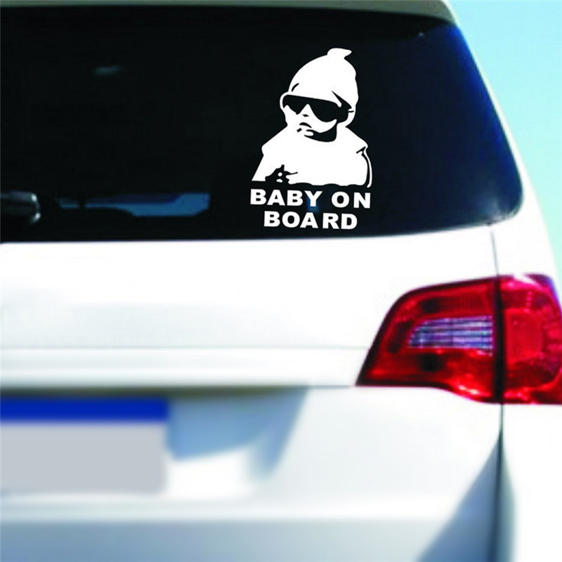 Decal-Ornaments Pendant Car-Sticker On-Board Reflective Interior Hot Rear for Children title=