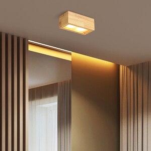Image 5 - LED Superficie Da Incasso 6W Luci di Soffitto del Led Montato A Soffitto Da Incasso Nordic Ferro + luce del Punto di legno per interni Foyer, soggiorno
