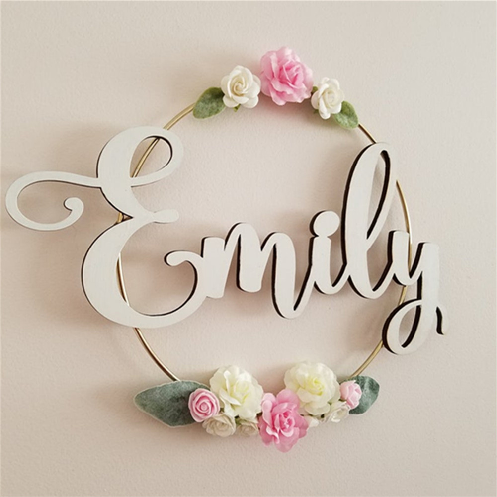 Personalized Name Wedding Birthday Signs Wood Acrylic Cut Custom Name Photobooth Props Wedding Party Gifts Name Setting Supplies