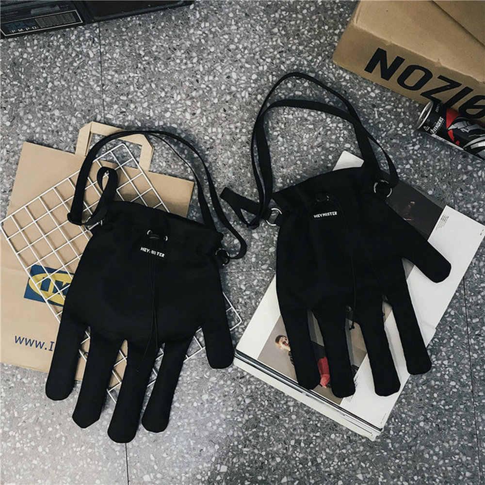 Nuovo di marca Coppia utensili uomini e donne di personalità guanti borse A Tracolla hip hop crossbody spalla borse B45-89