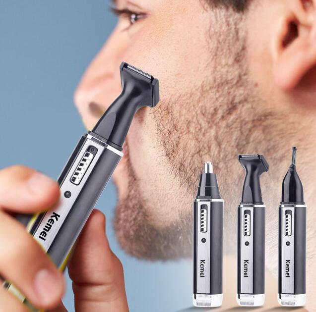 4 In 1 Hair Cliper Nose Hair Eyebrow Electric  Rechargeable Trimmer  Men's Ear Nose Hair Cutter Beard Shaver Eyebrows Tool