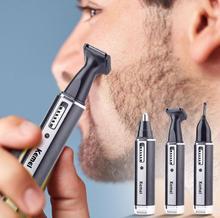 цена на 4 in 1 Hair Cliper Nose Hair Eyebrow Electric  Rechargeable Trimmer  men's ear nose hair cutter beard shaver eyebrows tool