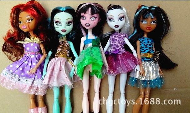 Nouvelle mode poupées/monstre jouets poupée pour filles/qualité jouet cadeau pour enfants/30cm jouets classiques