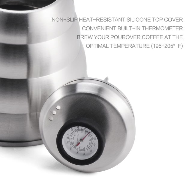 Stainless Steel Pour-Over Kettle With Thermometer 3