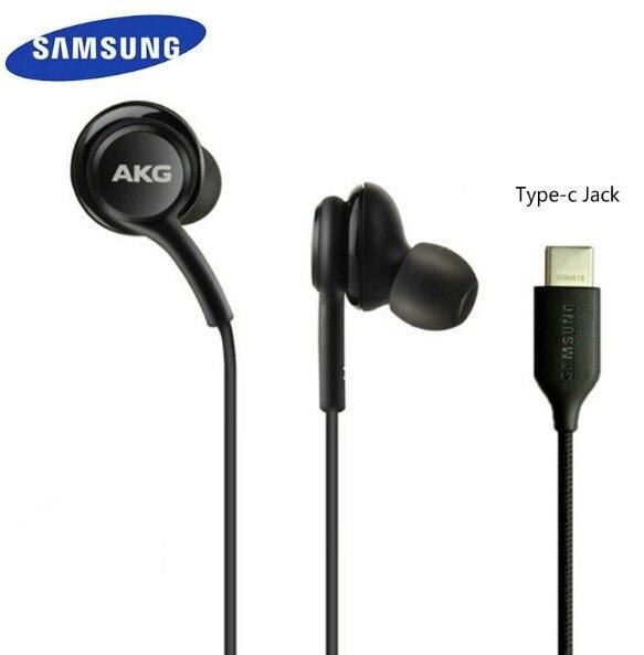 サムスンイヤホンakg eo IG955 タイプc マイクと耳ワイヤーヘッドセットギャラクシーサムスンS20 note10/note10 + huawei社のスマートフォン