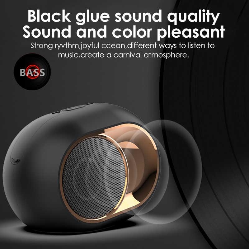 Altavoz Bluetooth inalámbrico Subwoofer TWS doble Unidad de sonido manos libres altavoz reducción de ruido Micrófono soporte USB FM AUX TF