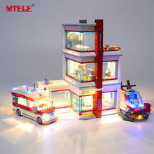 цена на MTELE Brand LED Light Up Kit For City Series City Hospital Lighting Set Compatile With 60204 NO Block Model