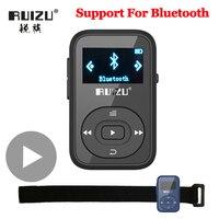 Ruizu LCD Sport Audio Mini lettore Mp3 musica Audio Mp 3 Mp-3 con Bluetooth Radio digitale Hifi Hi-Fi schermo Fm Flac Usb 8GB Clip