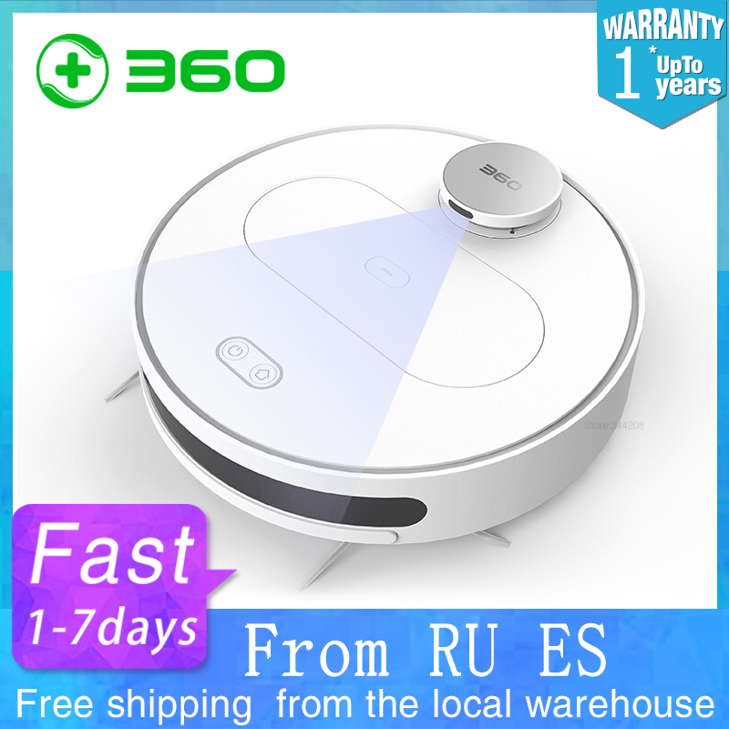 360 s6 robô aspirador de pó para casa através do telefone móvel limpeza varrendo lavagem mop esterilizar laser lds inteligente planejado wifi