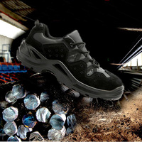 Safety Shoes Cap Steel Toe Safety Shoe Boots For Man Anti smash Casual Work Shoes Men Size Footwear Wear resistant DXZ087|Safety Shoe Boots| |  -