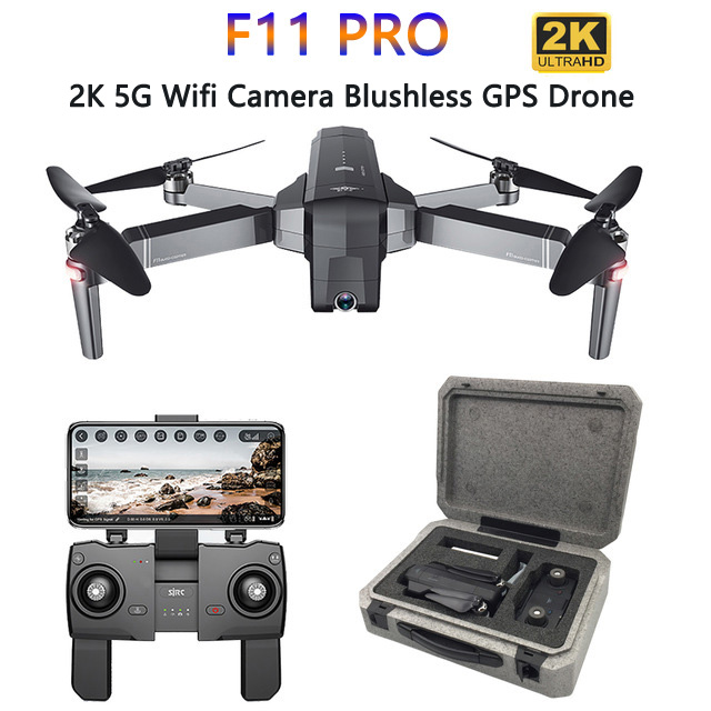 SJRC F11 PRO GPS Drone With 2K Camera Drone FPV 5G Wifi Quadcopter Gesture Control Brushless 25minutes Flight Time Foldable Dron|Camera Drones| |  - title=