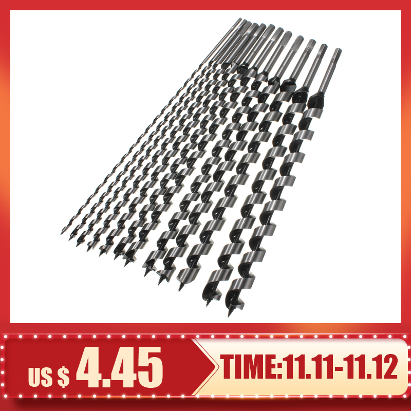 460mm Long 6-28mm Auger Drill Bits Wood Carpenter Masonry Hobby Wood Drills Set For Woodworking