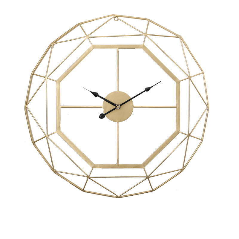 60CM Modern Simple 3D Wall Clock For Living Room Decoration Clock Nordic Metal Iron Wall Clock Luxury Creative Mute Wall Watches