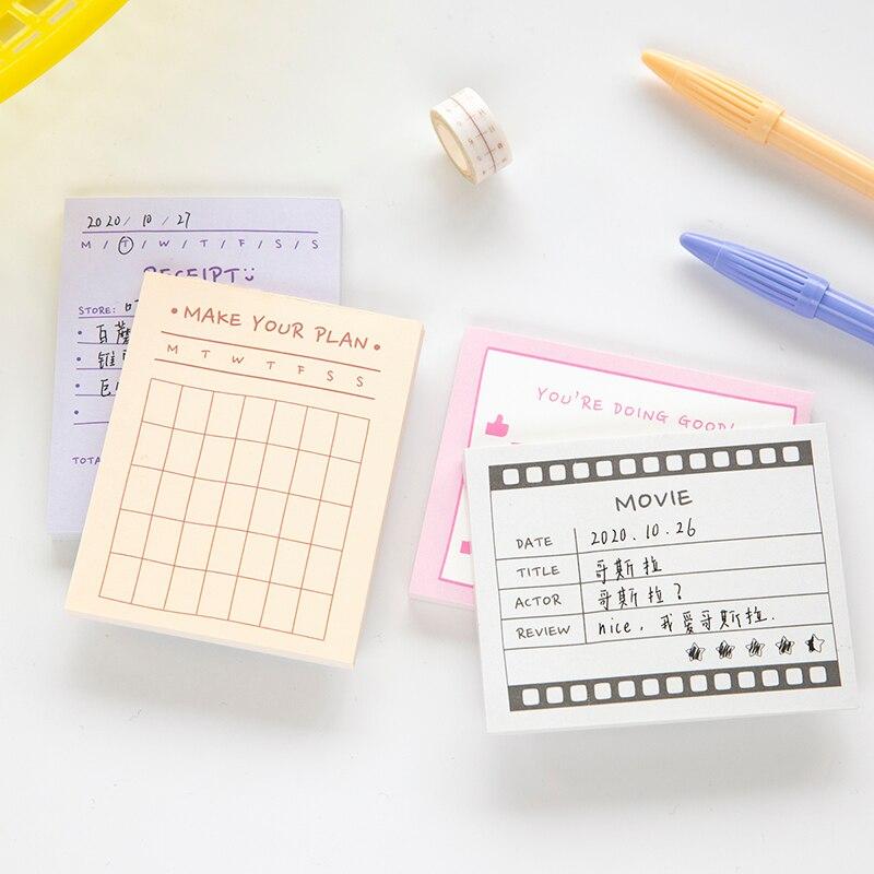 Yoofun 50 folhas bloco de notas folhas soltas diário criativo escrever notas bloco de notas para fazer lista plano programação para escritório escola