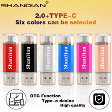 Memory-Stick Pen-Drive Usb-Smart-Phone TYPE-C SHANDIAN 64G 8G 32G 16G Real-Capacity