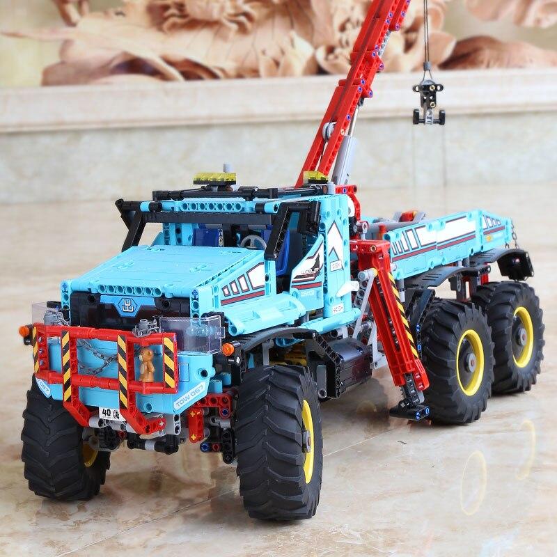 20056 Technik ultimative Alle Gelände 6X6 lkw set bausteine ziegel spielzeug Modell kompatibel Legoing 42070 Kind Weihnachten Geschenk - 5