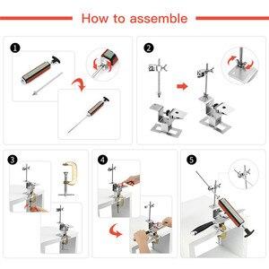 Image 4 - Sistema professionale per affilare i coltelli da cucina con 4 pezzi di pietre per affilare + lega di alluminio + Set di strumenti per affilare i coltelli con clip G