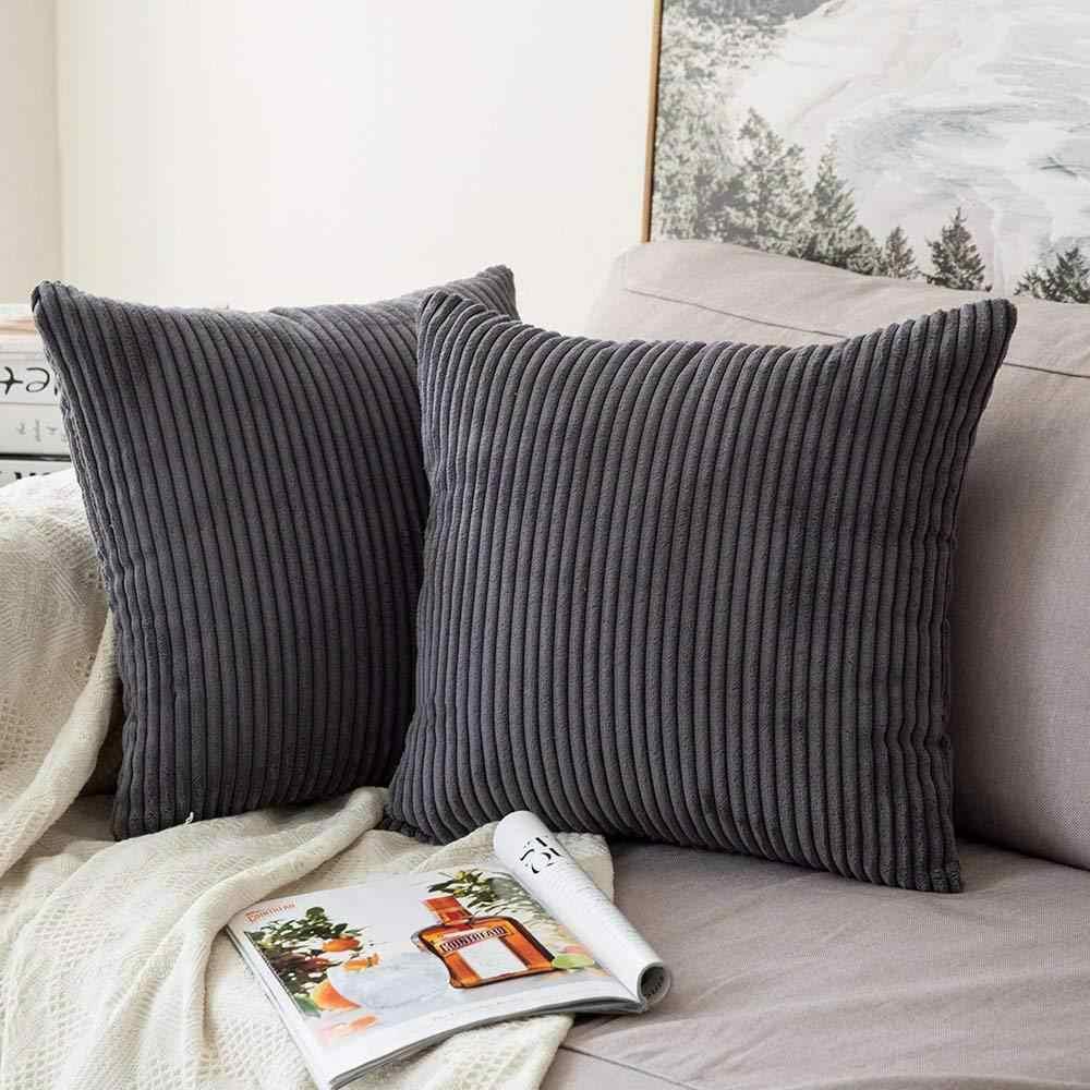 large 24 x 24 soft soild square pillow