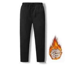 Новинка, зимние теплые штаны для бега, флисовые Мужские штаны, 5XL, большие размеры, модные повседневные утепленные спортивные штаны, Мужская брендовая спортивная одежда, GA532