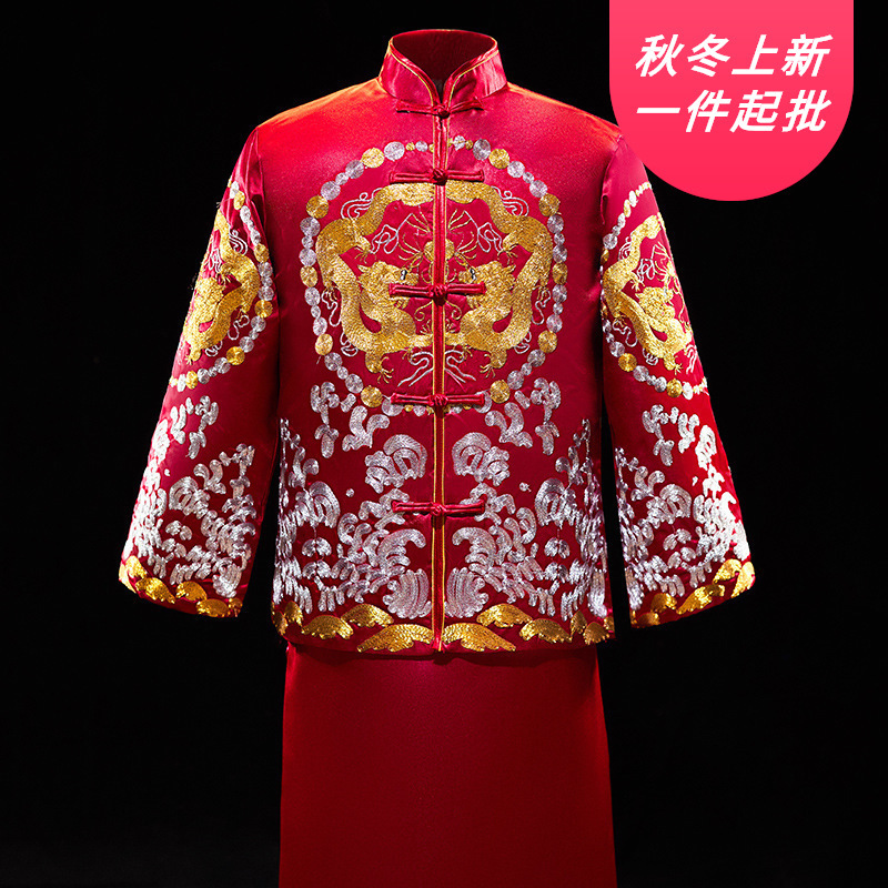 2020 Embroidery Xiuhe Suit Men 2020 New Toast The Groom Wedding Chinese Style Dress Longfeng Existing Manufacturer Wholesale