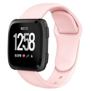 Image 3 - Ban Nhạc Dành Cho Fitbit Versa Dây Đeo Ngược Dây Khóa Thay Thế Vòng Đeo Tay Fitbit Versa Lite Dây Đeo Silicone Đồng Hồ Thông Minh Smartwatch Cổ Tay