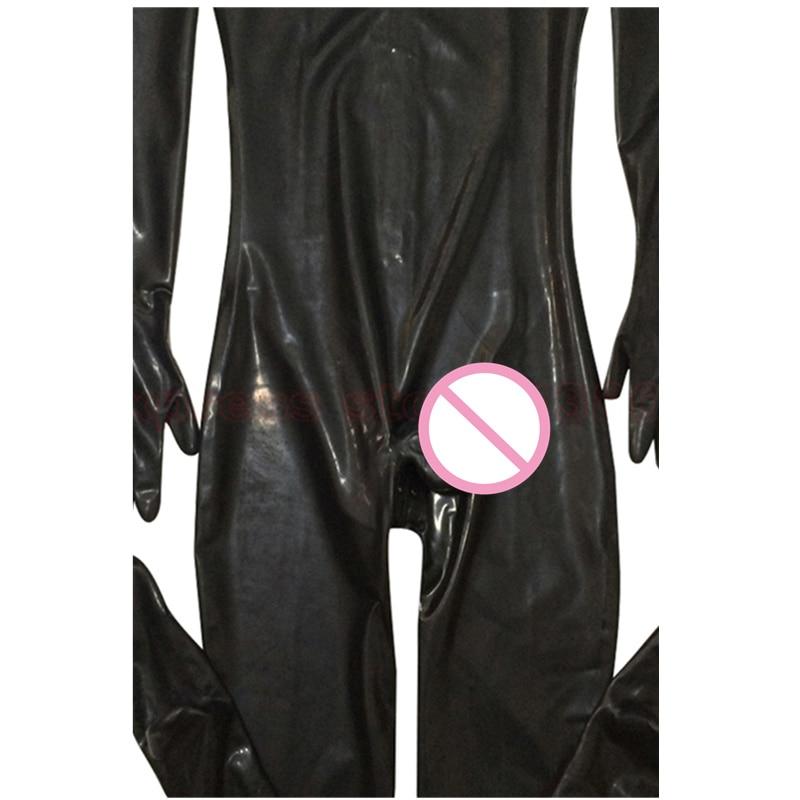 Men Male Latex PVC Catsuit Plus Size 3XL Sexy Wetlook Faux Leather Night Club Full Bodysuit Gay Fetish Erotic Leotard Jumpsuit 5