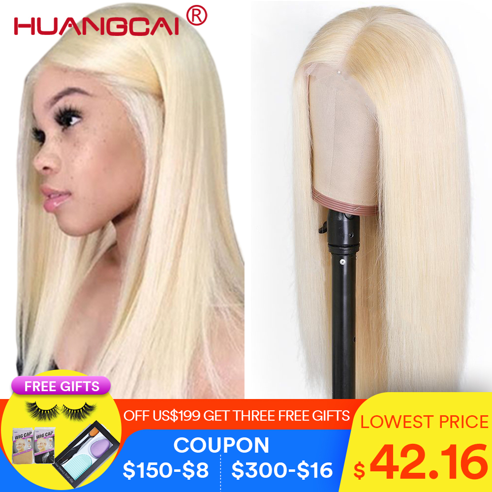 613 Blonde Lace Front Human Hair Wigs Brazilian Straight Lace Front Wig Pre Plucked Glueless Honey Blonde Remy 13*4 Lace Wigs