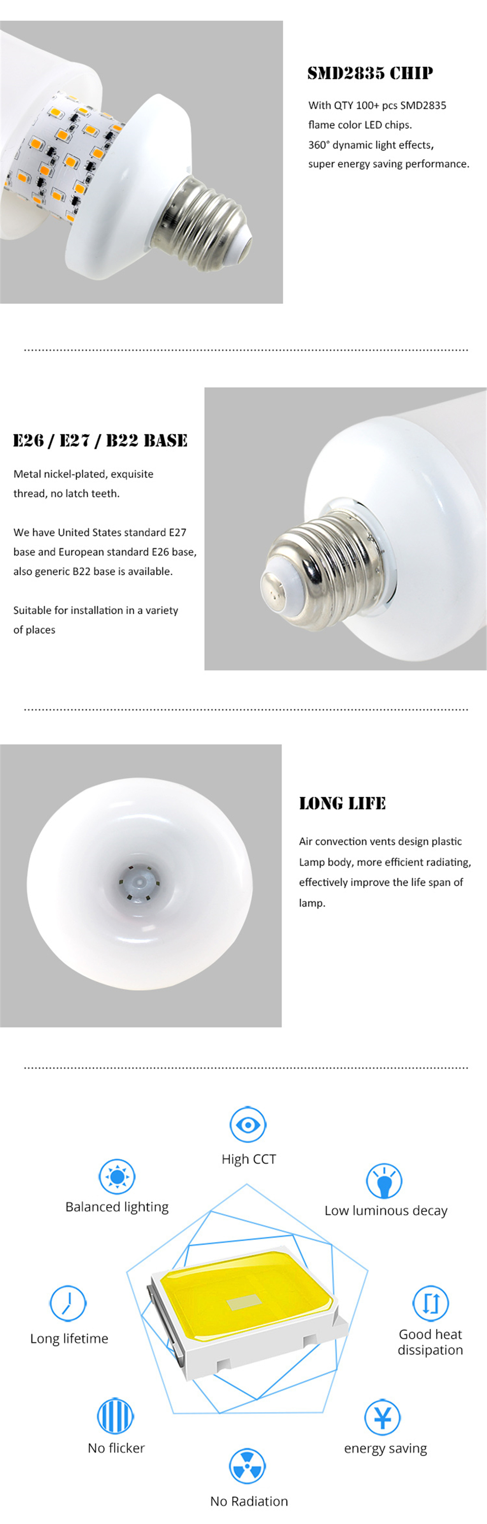 H0b1a830a62554abc8943c86e832de474p - Flame Lamps 15W 85-265V 4 Modes Ampoule LED Flame Effect Light Bulb Flickering Emulation Fire Light Yellow/Blue Flame