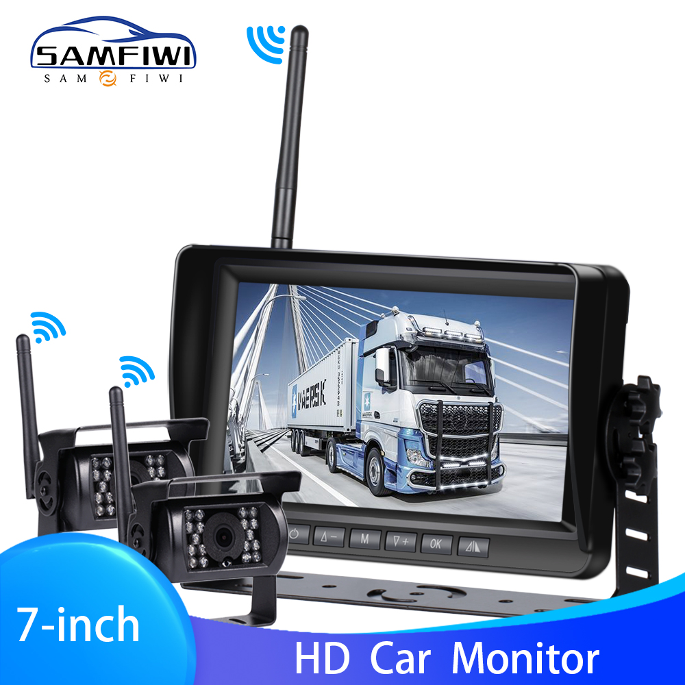High Definition AHD Drahtlose Lkw DVR Auto Monitor 7