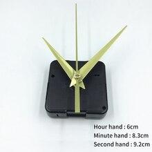 Простые золотые стрелки, кварцевые настенные часы, механизм движения, сменный комплект, механизм, части часов, настенные часы, украшение дома