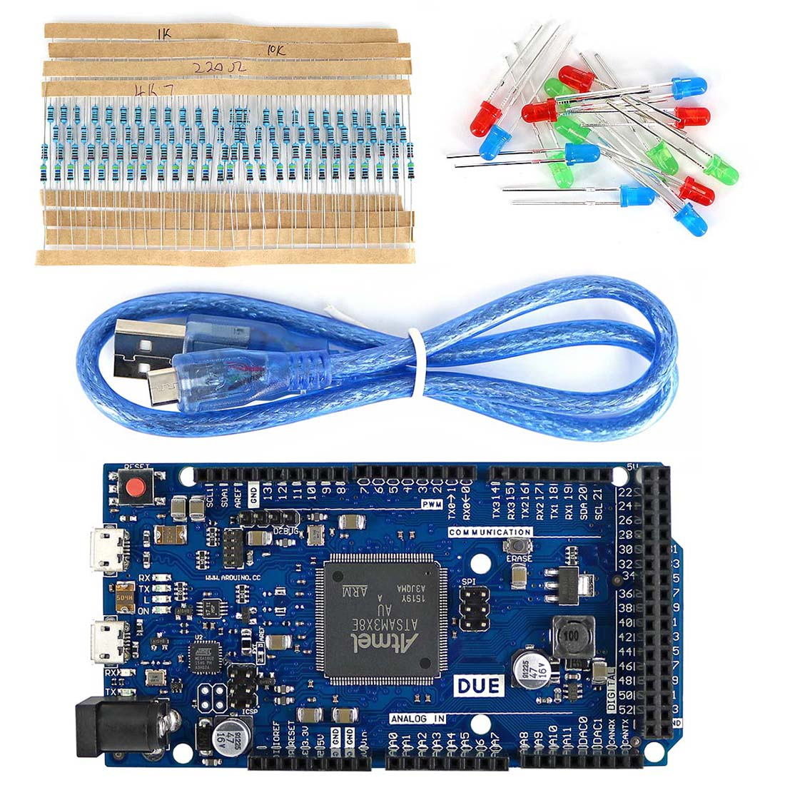 DUE R3 Development Board Kit With USB Cable/Resistor/LED For Arduino