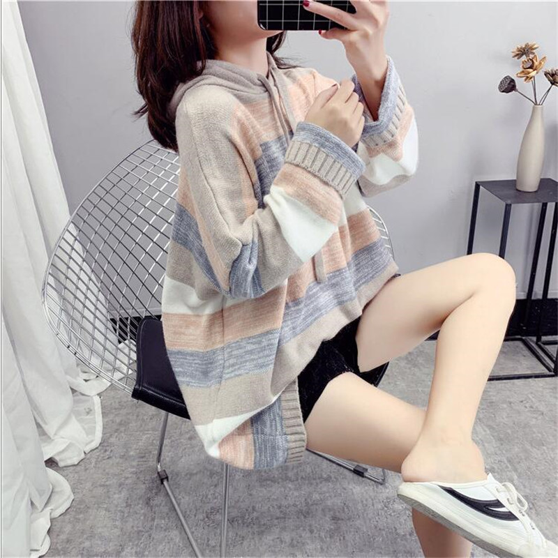 Women Sweater Knitwear Jacket Autumn 2019 New Loose Korean Version Of The Long Paragraph Pullover Blouse