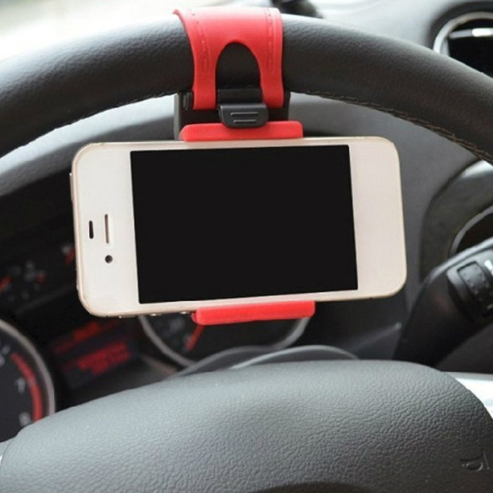 Car Mobile Phone Holder Car Steering Wheel Mobile Phone Socket Holder Car Navigation Support Clip